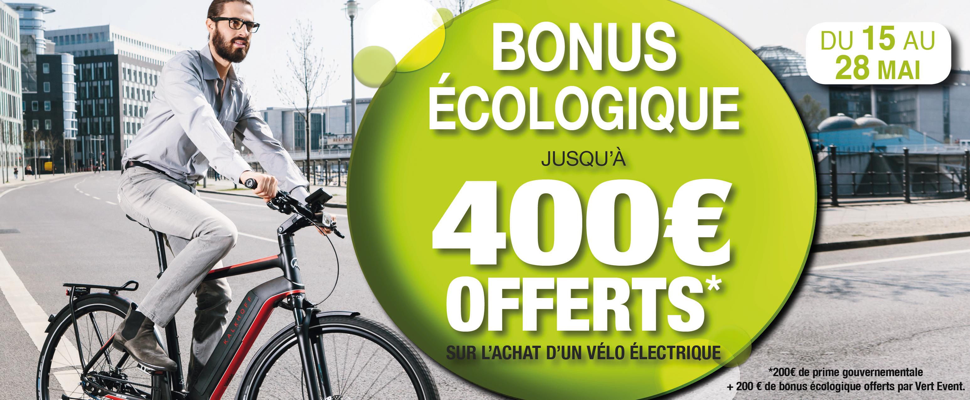 Vélo électrique bonus écologique