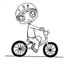Dessin vélo casque