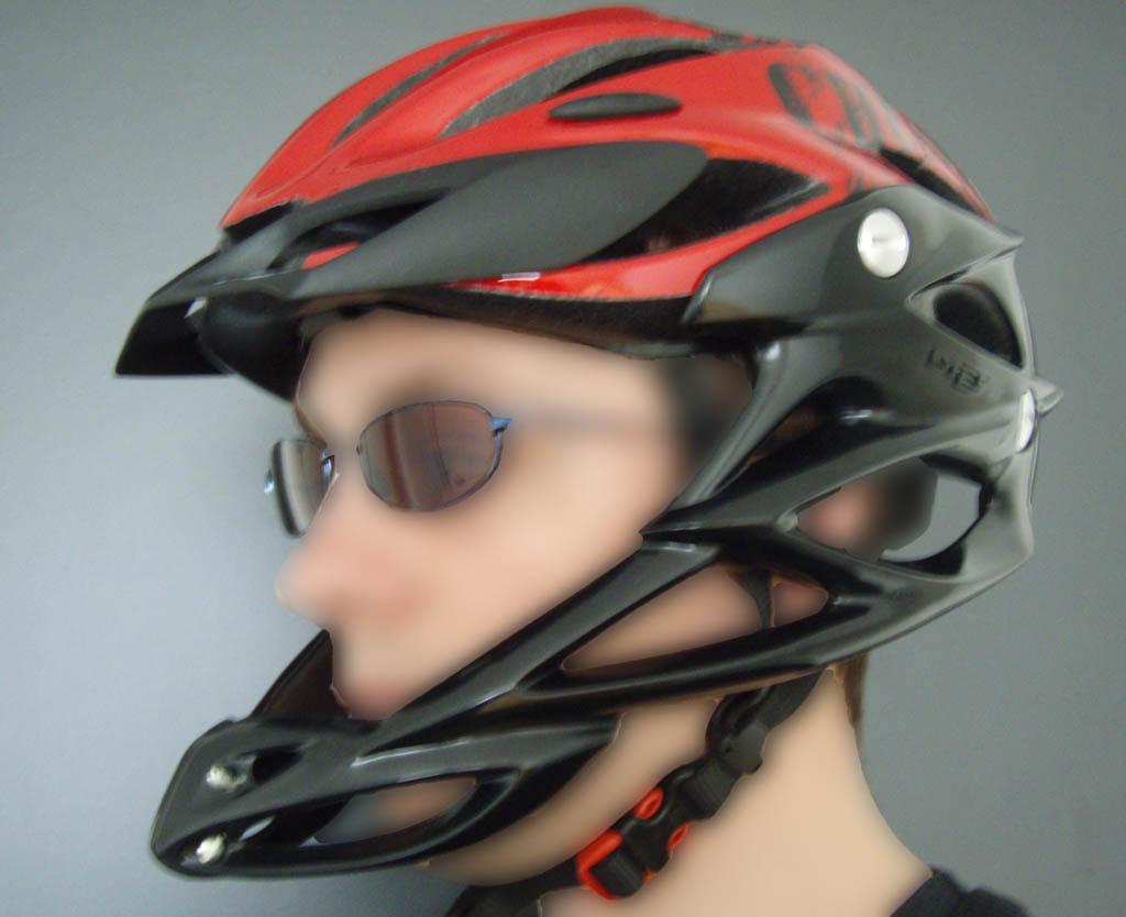 Casque vélo mentonière